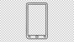 Drawn phone transparent Stock with transparent Iteam background