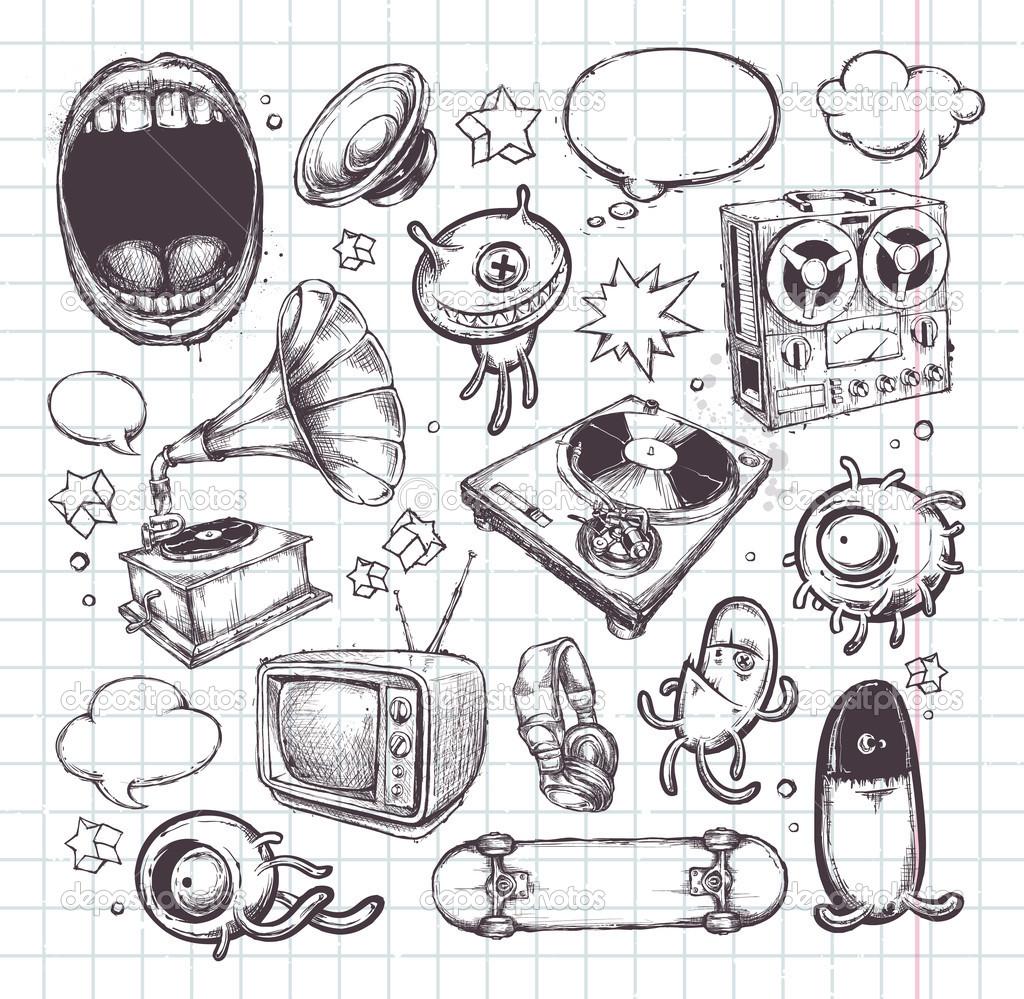 Drawn photos Drawn Illustration:  hand Stock