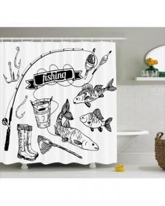 Drawn photos artsy Hand Print Print Curtain Drawn