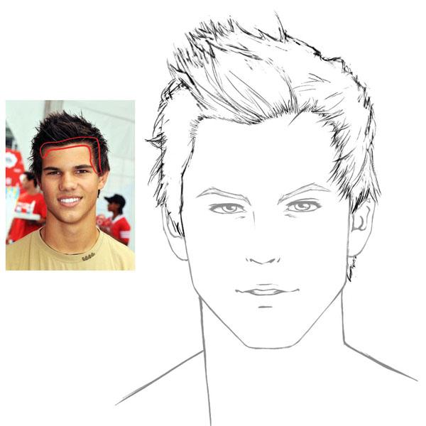 Drawn photos boy Male How to draw hair: