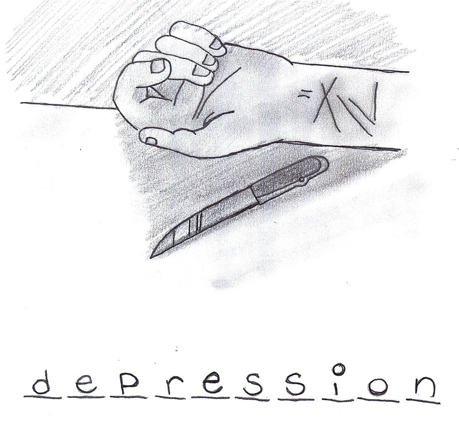 Drawn photos depression Depression_cuts_by_weatethecrayons Reverse Depressed Search d35rsy6