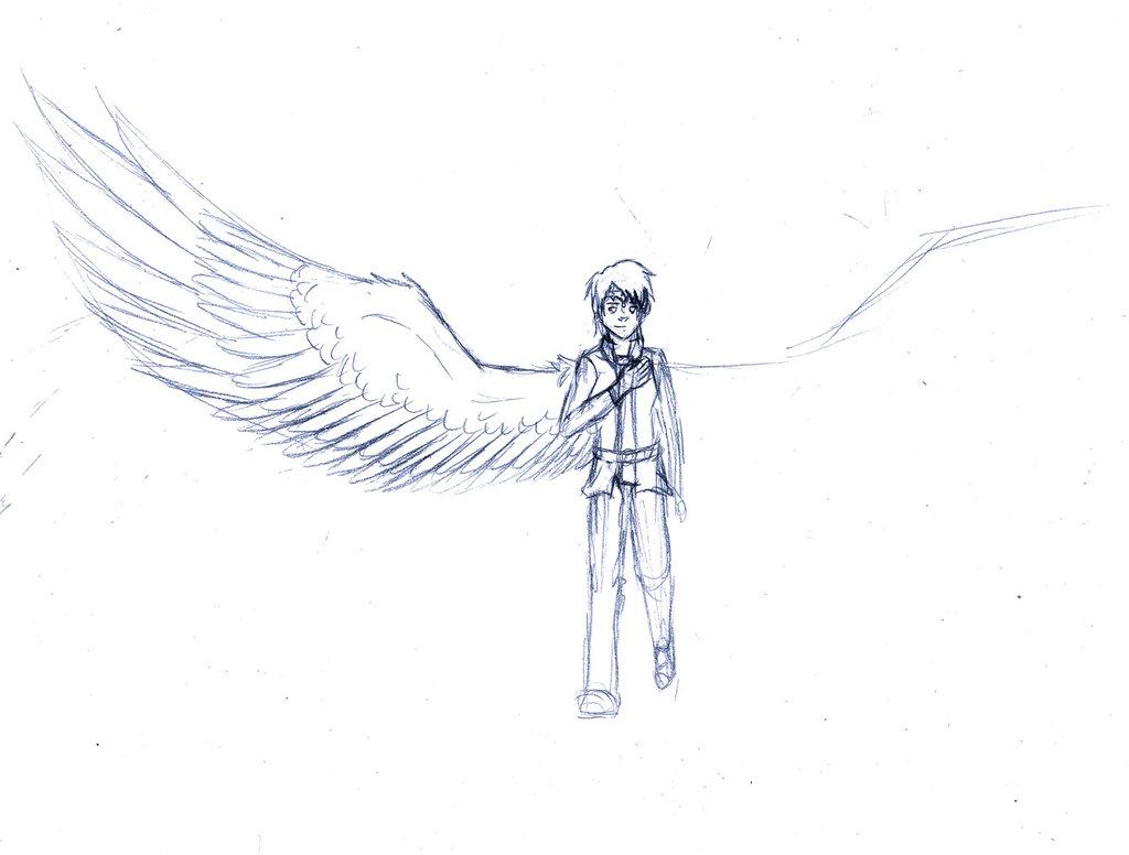 Drawn photos half Half Crow WingedAngel Crow Series