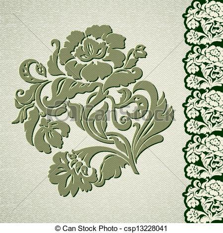 Drawn photos lace flower EPS csp13228041 vintage vintage lace