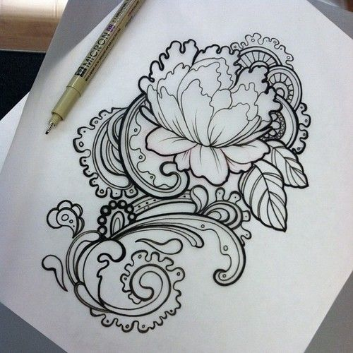 Drawn photos lace flower Roses antique tattoo tattoos tattoo