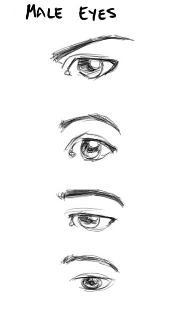 Drawn photos male eye CaptScott Male CaptScott deviantART