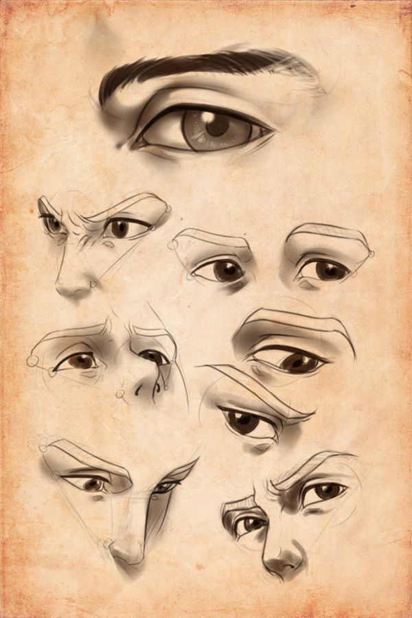 Drawn photos male eye 189 Practice: by on Pinterest
