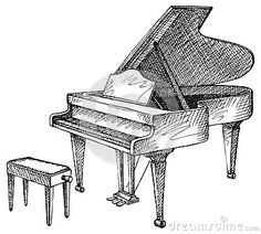 Drawn piano  and tutorials How Grand