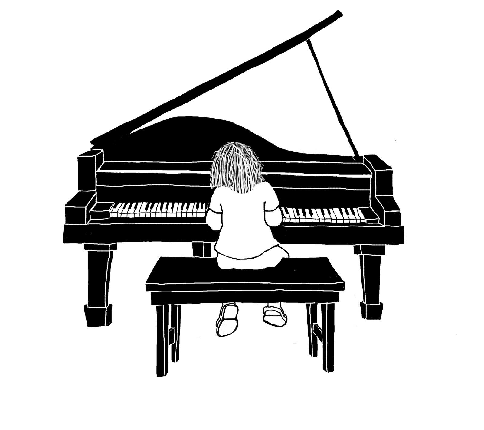 Drawn piano Business Sketch teaching new piano