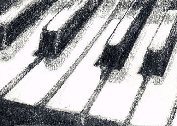 Drawn piano black and white On images piano Google Pinterest