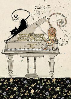 Drawn piano cute Greeting on 232 illustrations Music