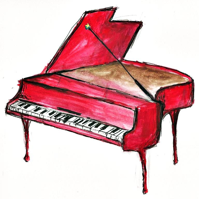 Drawn piano cute On Heart We in by