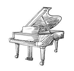 Drawn piano cute Illustration a