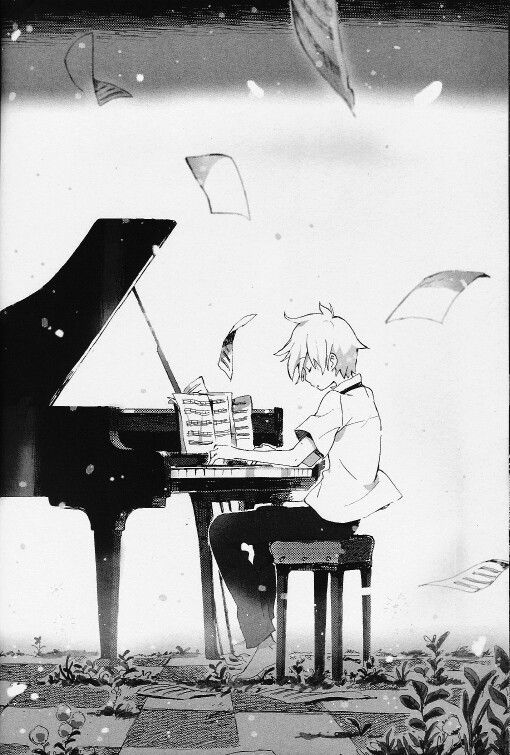 Drawn piano gothic Anime I the at couldn'