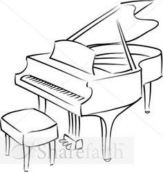 Drawn piano outline Sketch I More grand Sketching