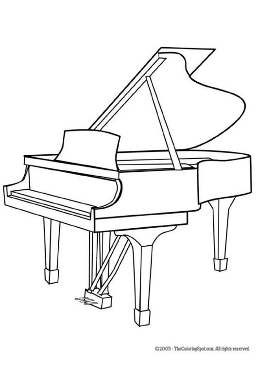 Drawn piano outline For 21 Kids How on