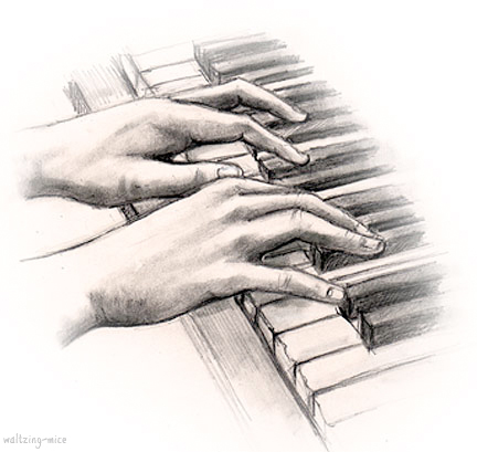 Drawn piano piano playing Piano on Playing disco by