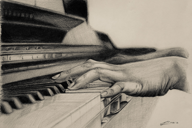 Drawn piano piano playing By the kiwikid888 kiwikid888 by