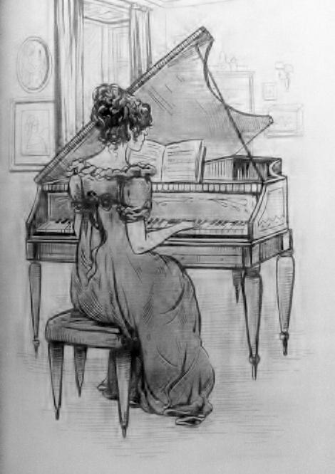 Drawn piano piano playing Girl Pinterest more! Music playing