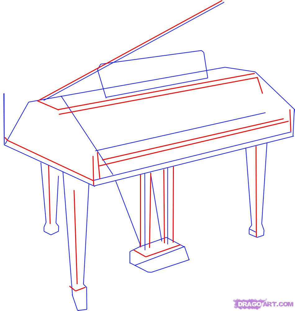 Drawn piano simple 2 a Draw Step Instruments
