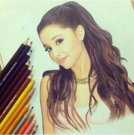 Drawn portrait ariana grande  Ariana did Grande week