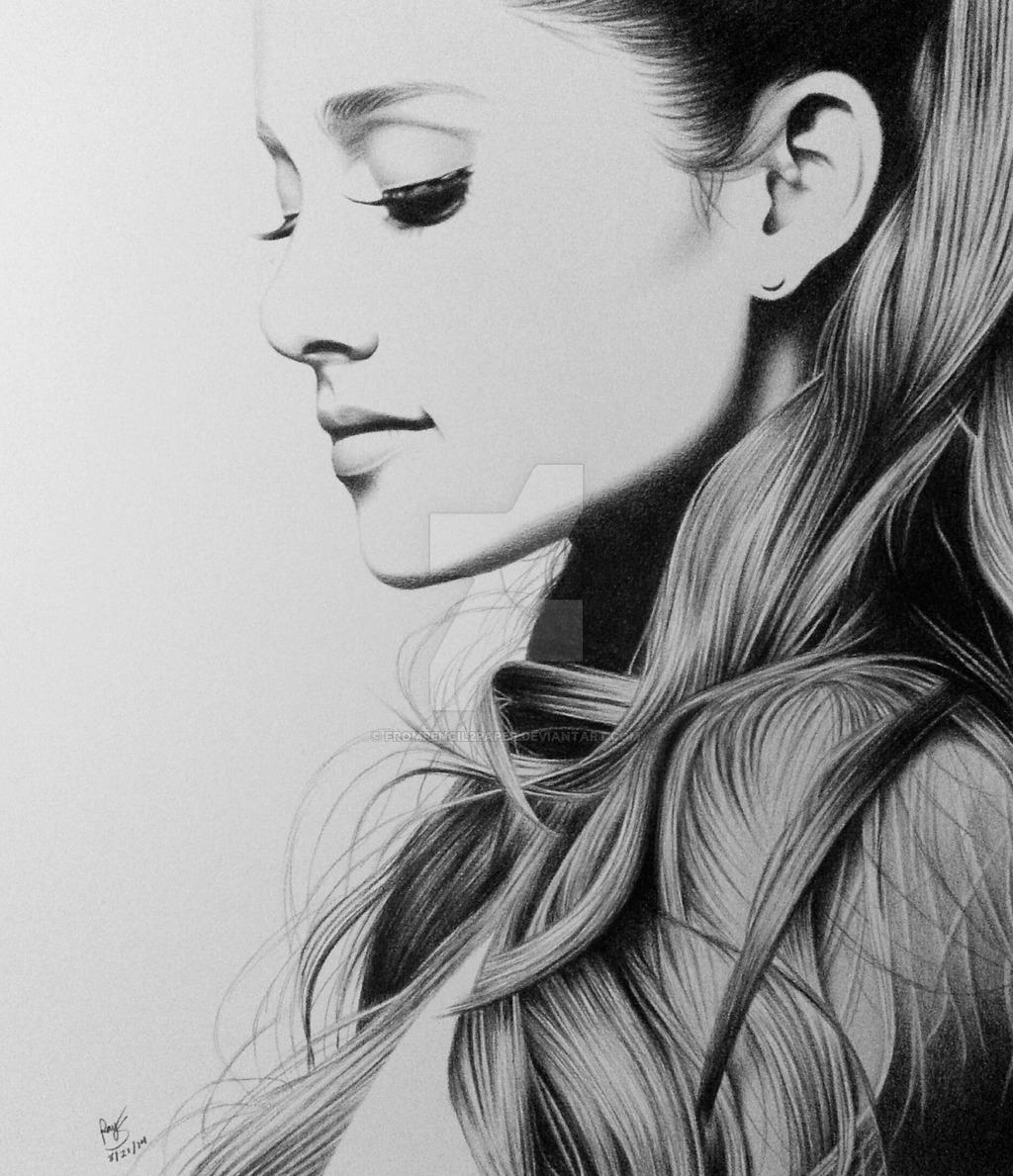 Drawn portrait ariana grande  on deviantart @DeviantArt deviantart