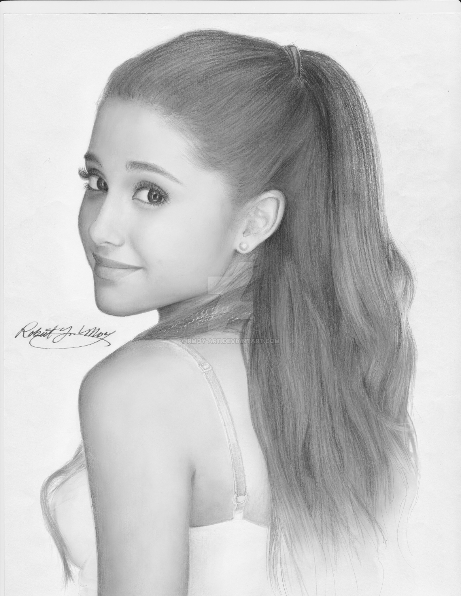 Drawn portrait ariana grande DeviantArt Art  portrait by