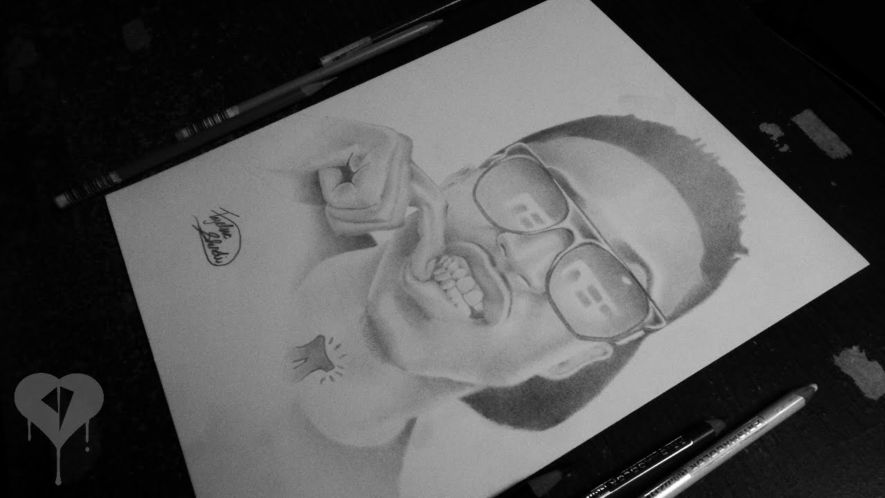 Drawn pice august alsina Portrait(Drawing) Of YouTube August Alsina(Singer)