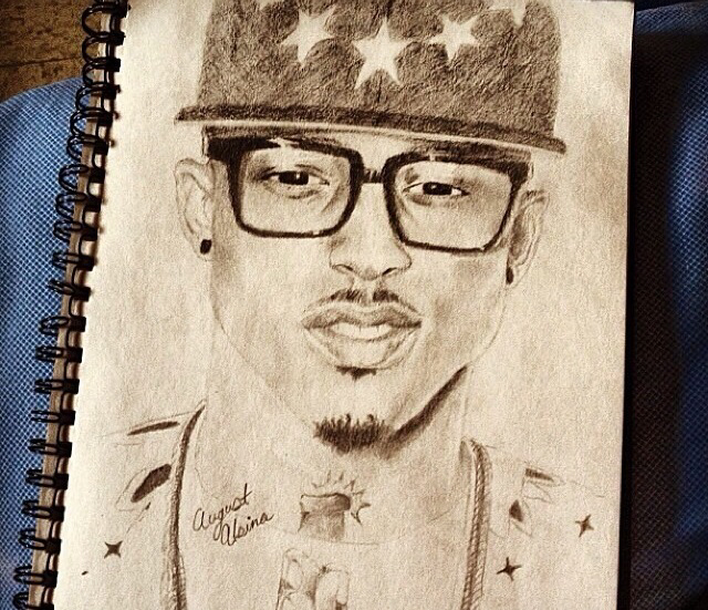Drawn pice august alsina Follow ! me Alsina Drawing