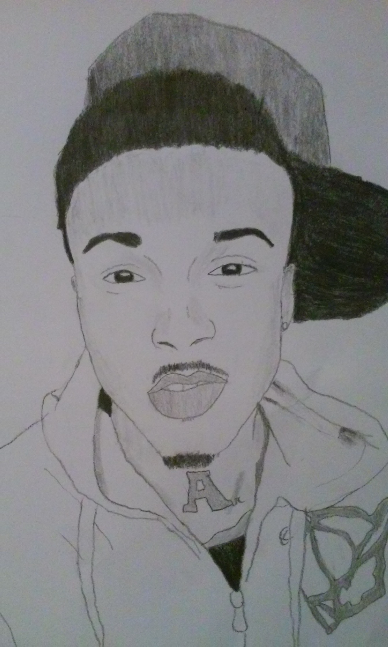 Drawn pice august alsina © Alsina Drawing Drawing gregory312