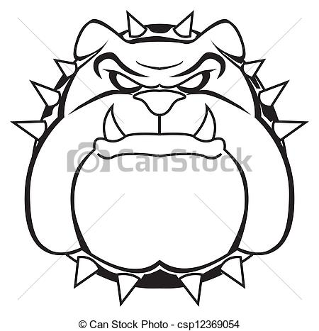 Drawn pice bulldog Bulldog  royalty pictures Stock