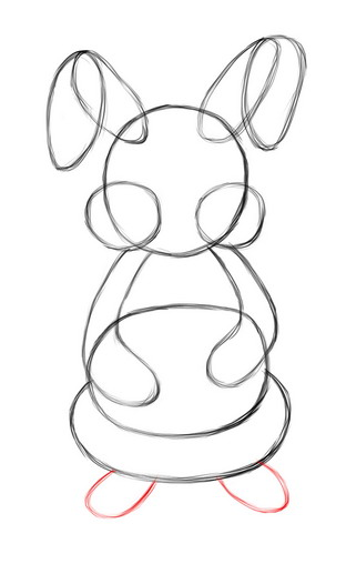 Drawn rabbit basic 15 Step the Bunny Easter