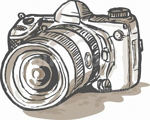 Drawn camera dslr camera Of drawing a of ideas