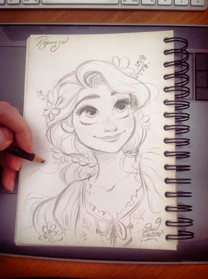 Drawn pice disney princess U on disney the repunzel