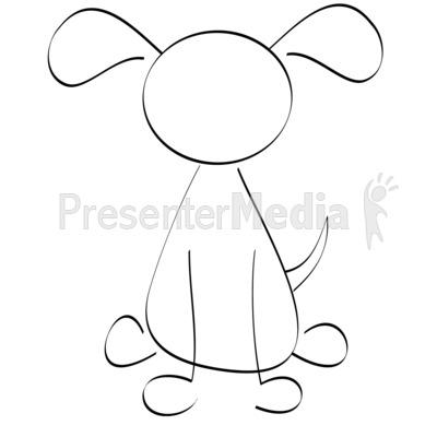 Cat clipart drawn Clip Drawn Line Presentation