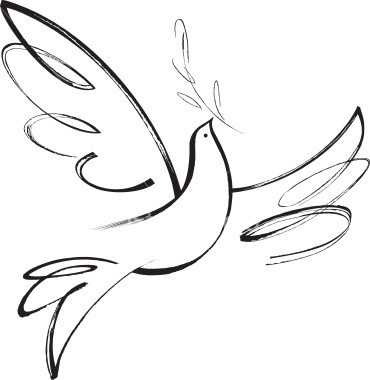 Drawn pice dove Of peace towards symbolism moved