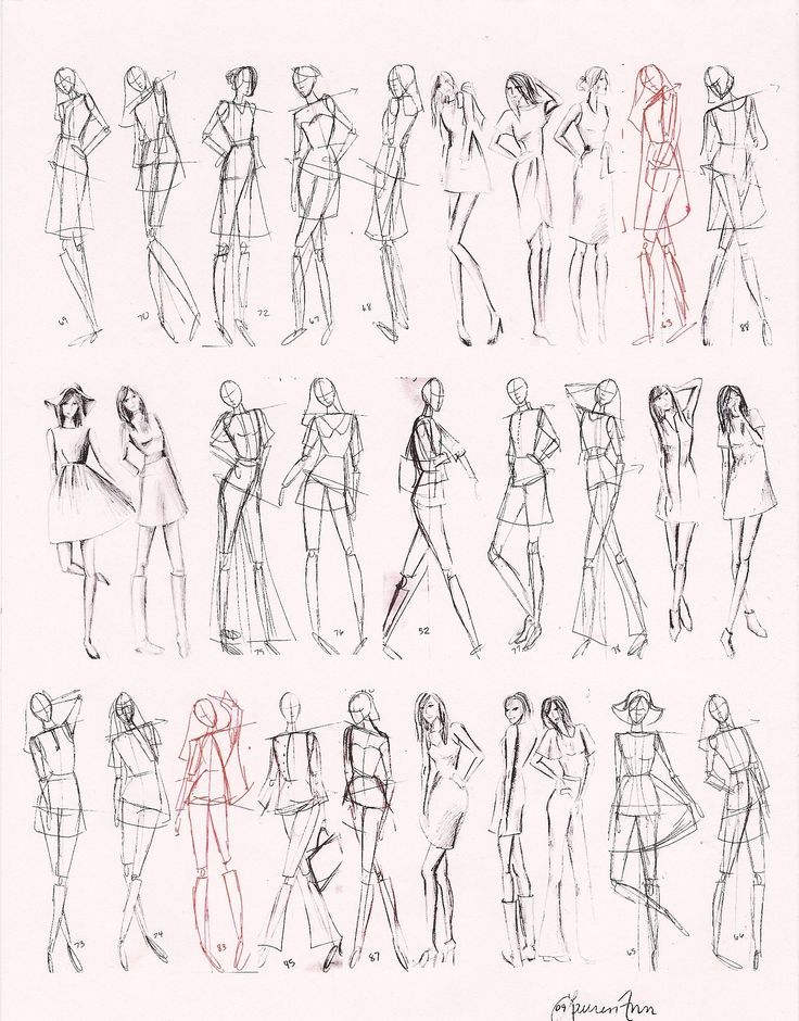 Drawn figurine part drawing Best Gesture Pinterest 5 Figures