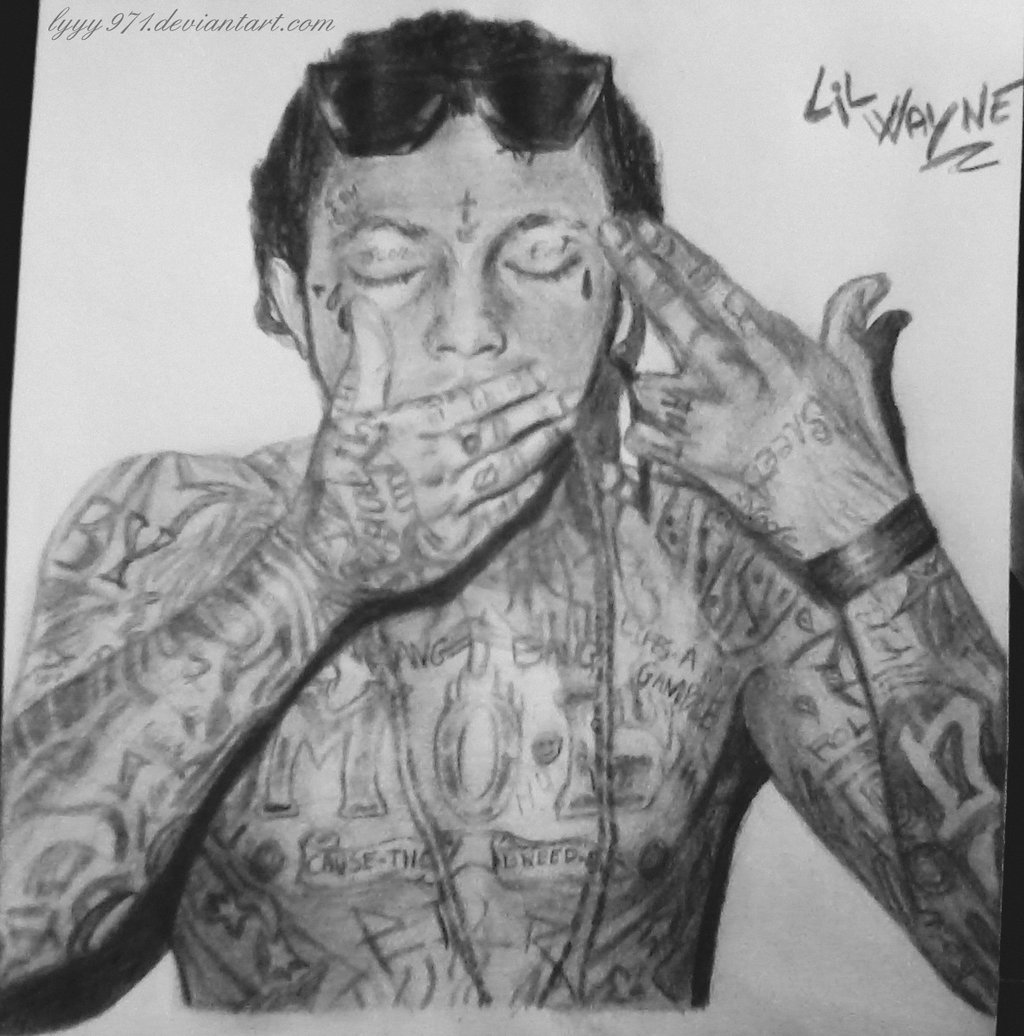 Drawn pice lil wayne Wayne (dessin drawing Lil by