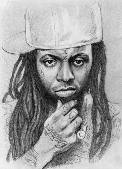 Drawn pice lil wayne Portrait Lil thedrawinghands ·