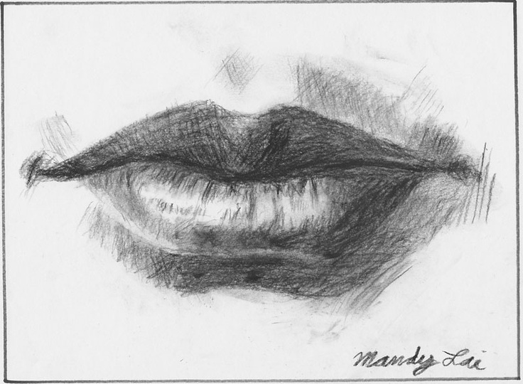 Drawn photos mouth 87 lips images drawing Pinterest