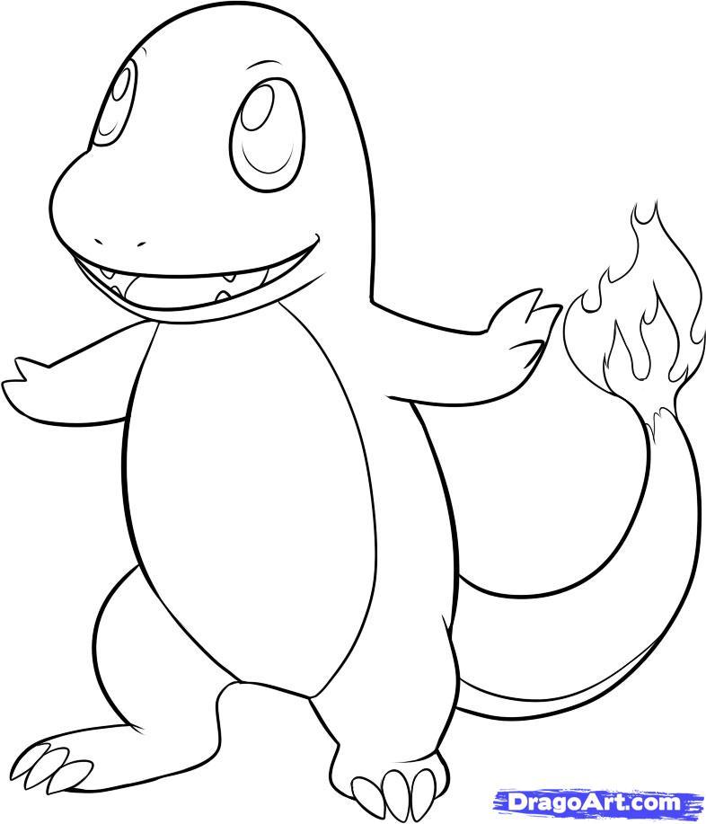 Drawn amd pokemon Draw Characters pokemon Charmander by
