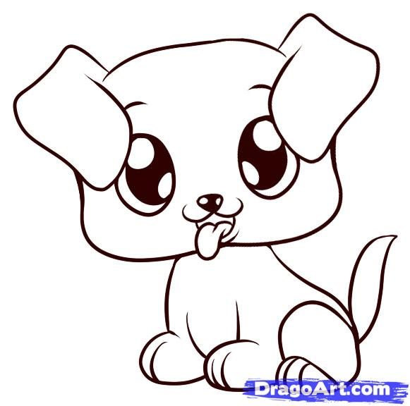 Drawn puppy easy Draw to Puppy 6 Step