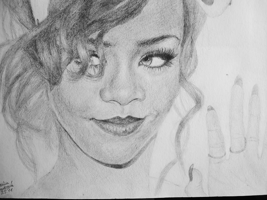 Drawn portrait bad DeviantArt by by Drawing: Rihanna