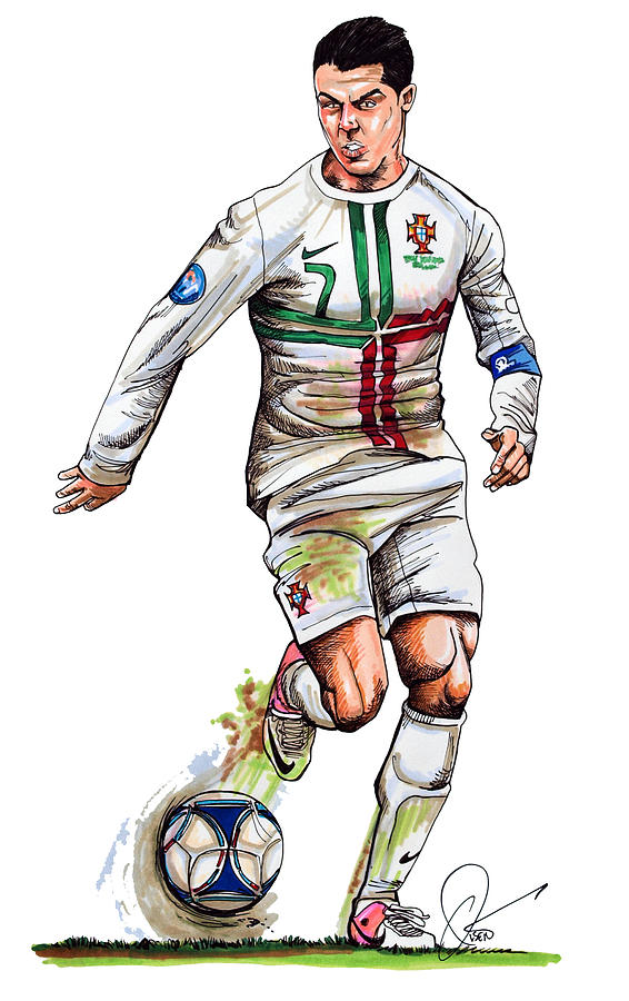 Soccer clipart ronaldo Cristiano Olsen by Art Cristiano