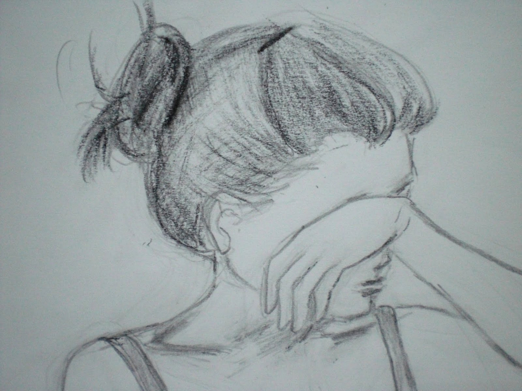 Drawn pice sad Pictures Hand Drawn Sketch Draw