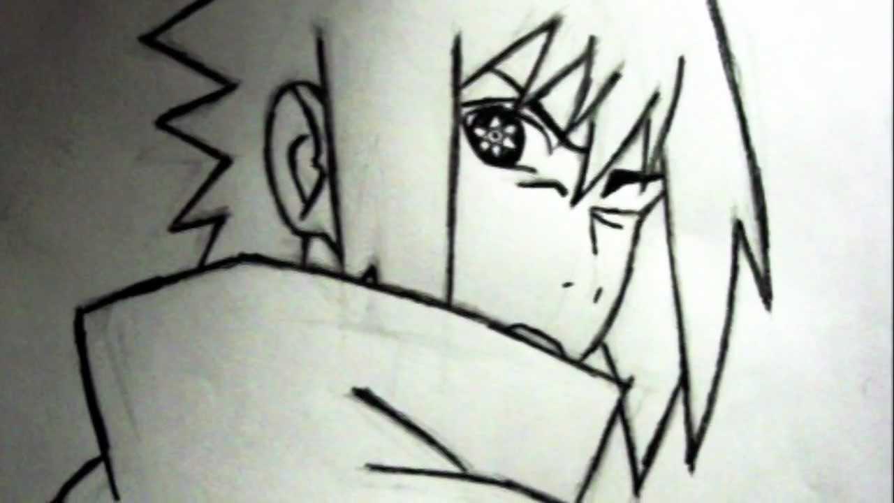 Drawn pice sasuke Sharingan) Sasuke  YouTube How