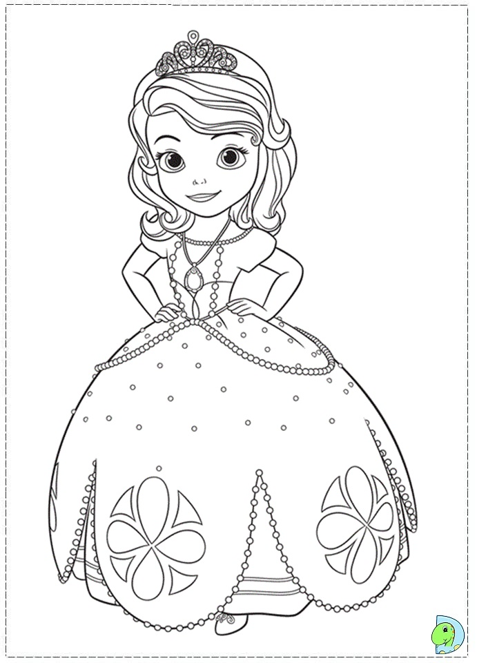 Drawn pice sofia the first Sofia Pages  with Coloring