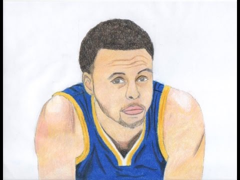 Drawn portrait stephen curry  YouTube Curry Stephen Drawing