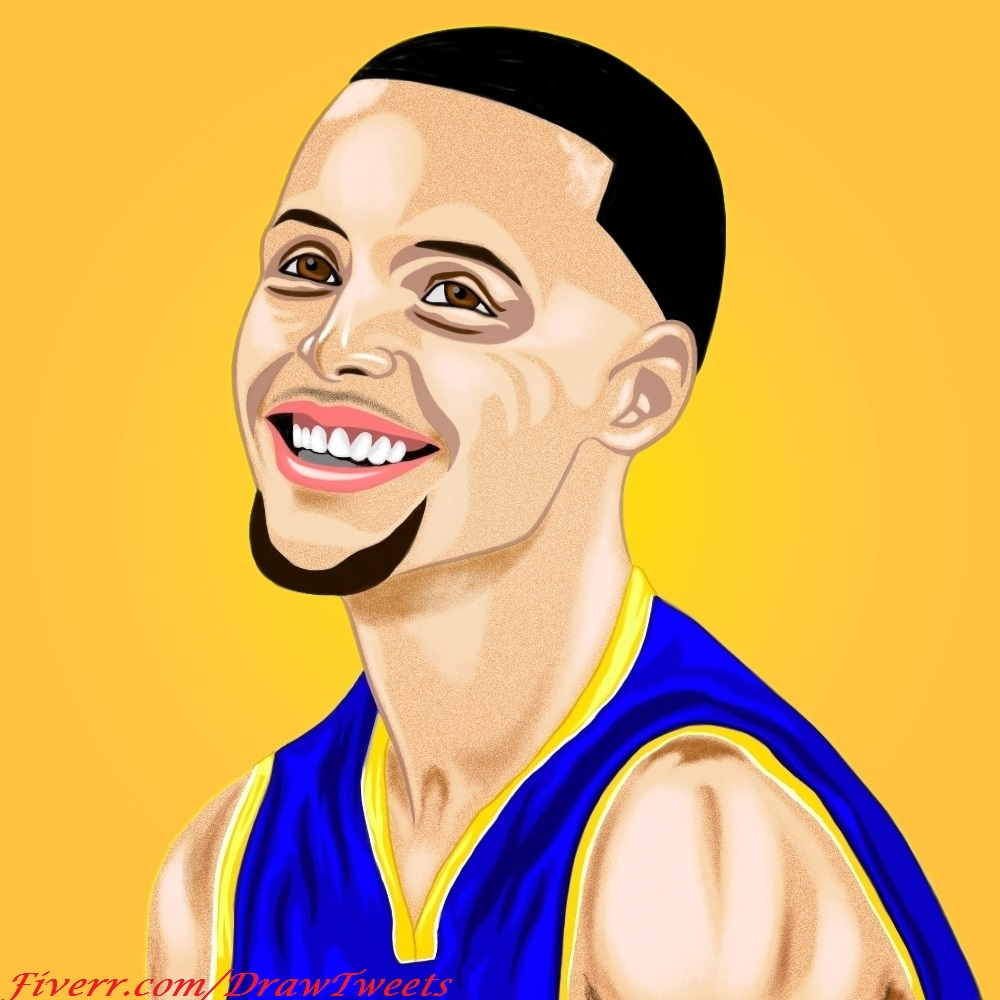 Drawn portrait stephen curry Curry Curry Steph inspired