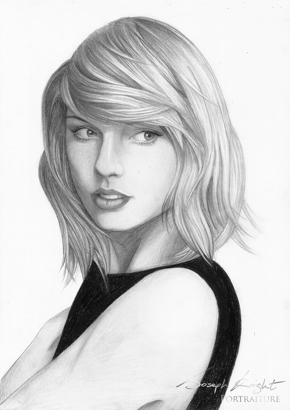 Drawn portrait taylor swift Portrait Taylor materia materia white