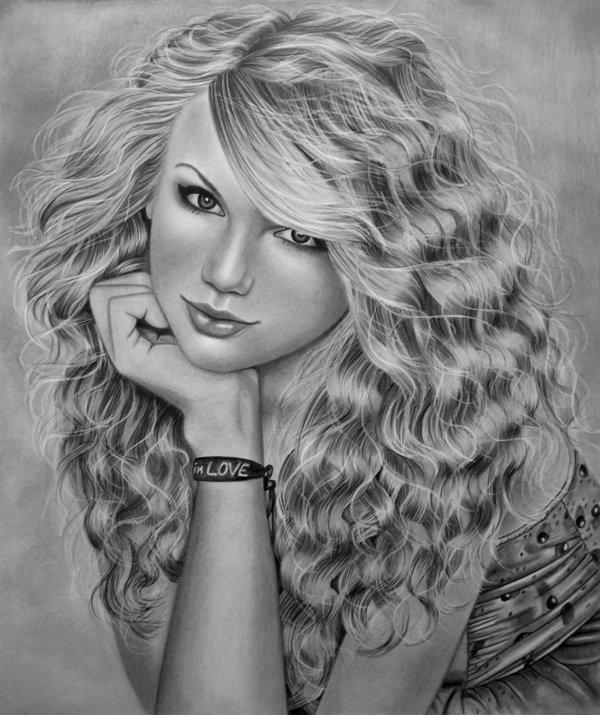 Drawn amd taylor swift On SWIFT AngelasPortraits by DeviantArt